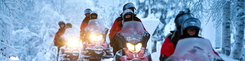 Snowmobile lapland incentive trip