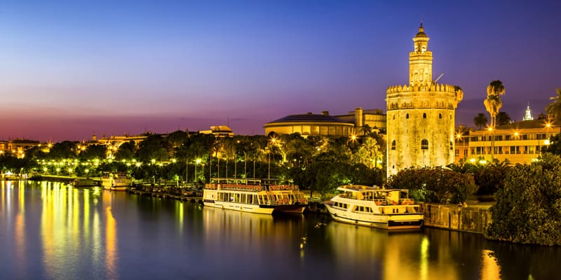 Evening river cruise in Seville