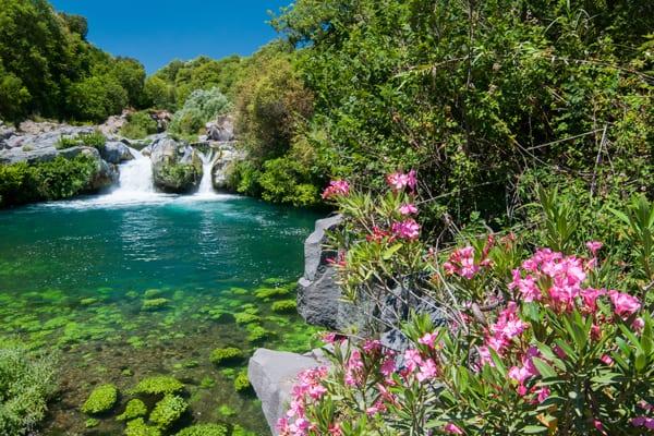 Sicily alcantara scenery