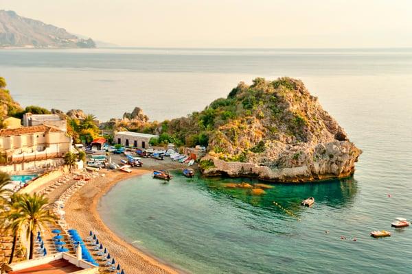 Sicily Taormina bay